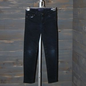 Girl's Levis Dark Denim Jeans Leggings, Size 7 Reg